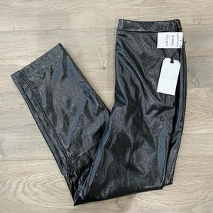 Straight Leg Faux Leather Pants